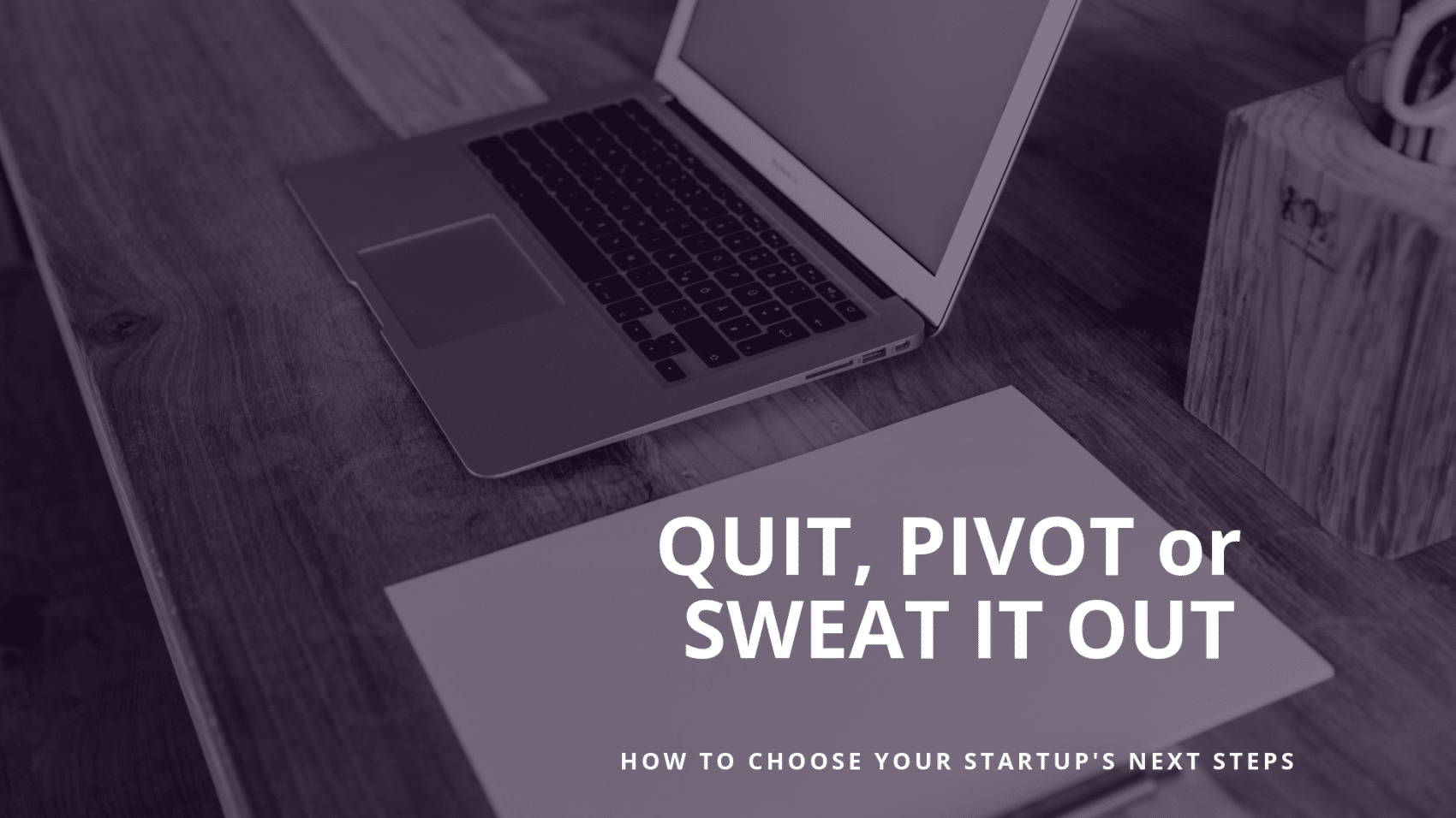 Quit, Pivot or Sweat it Out: How to Choose Your Startup's Next Steps
